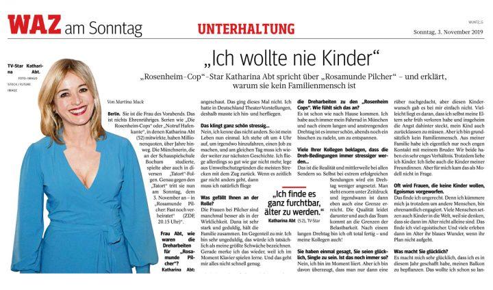 Katharina Abt in der WAZ