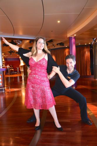 Tanz-Unterricht mit Christian Polanc auf der AIDA.