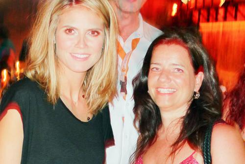 Party-Plausch mit Top-Model Heidi Klum in Palma de Mallorca