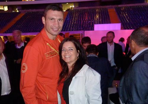 Mit Vitali Klitschko in der Arena Frankfurt
